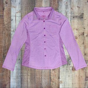 Prana | Lavender Long Sleeve Button Up Sport Style